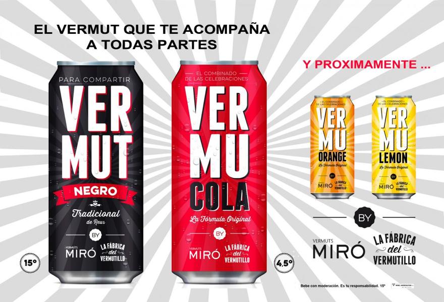 Vermuts Miró amplía su gamma con nuevos productos enlatados
