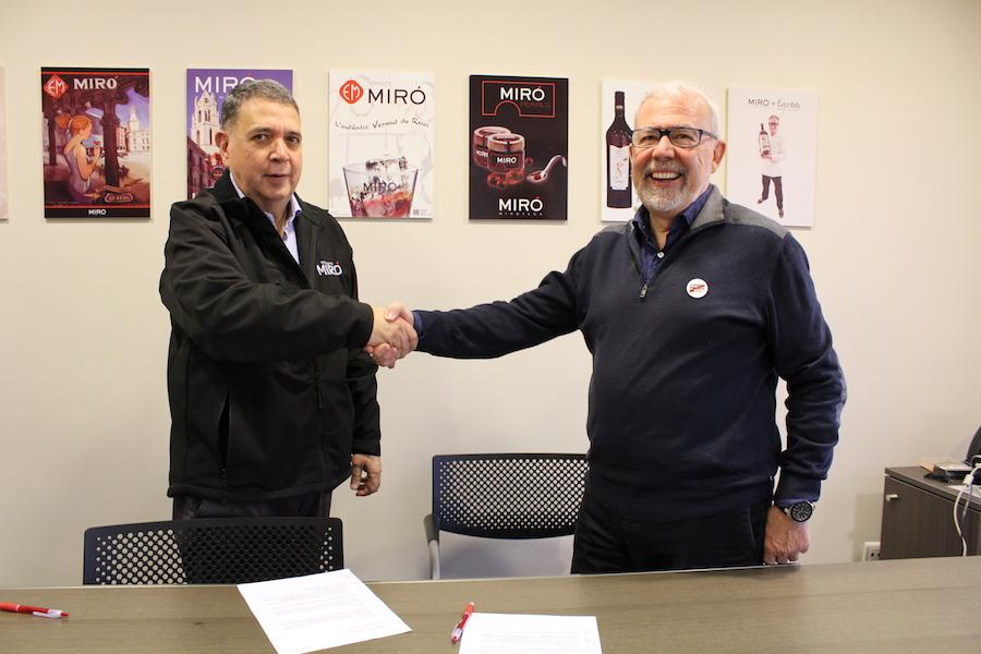 Vermuts Miró y la Fundación Mn. Frederic Bara y Cortiella renuevan el convenio de colaboración anual