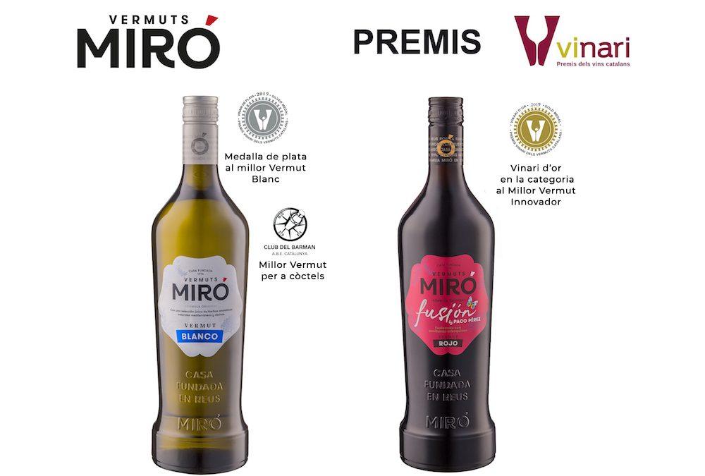 Vermuts Miró, la casa de vermuts más premiada en los Premis Vinari 2019
