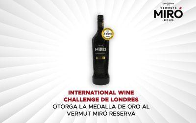 El International Wine Challenge de Londres atorga la Medalla d'Or al Vermut Miró Reserva