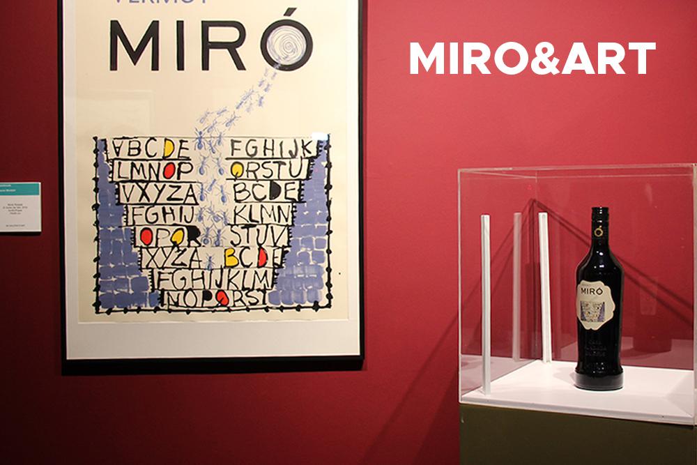 Vermuts Miró presenta la botella de Vermut Reserva Edición Limitada con la nueva etiqueta ganadora en el Miro & Art.