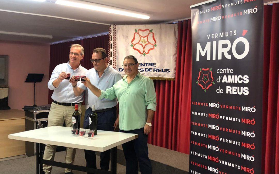 Vermuts Miró y el «Centre d'Amics de Reus» ratifican el deseo de colaboración entre ambas entidades