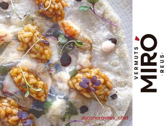 Paellathaicruixent amb maionesa dekimchii Vermut Miró
