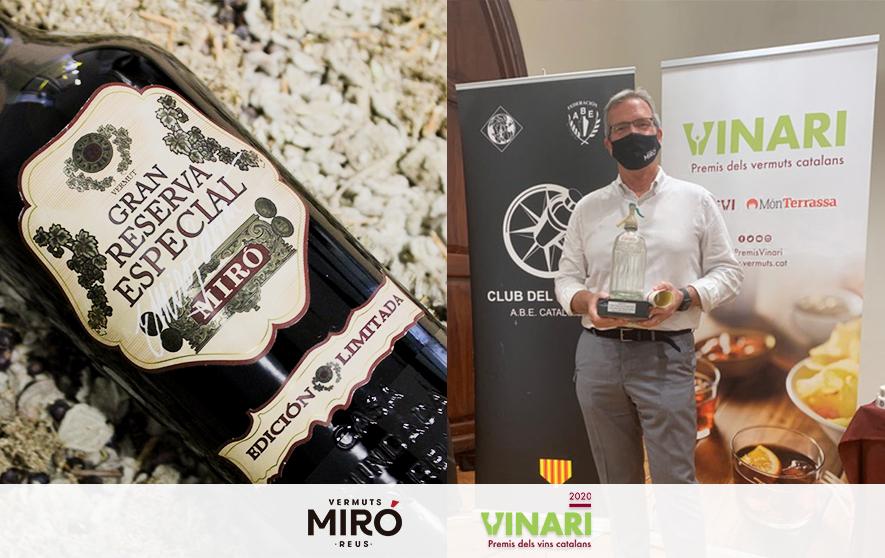 Vermut Miró Gran Reserva Especial aconsegueix el Vinari d'Or al millor vermut per còctels 2020