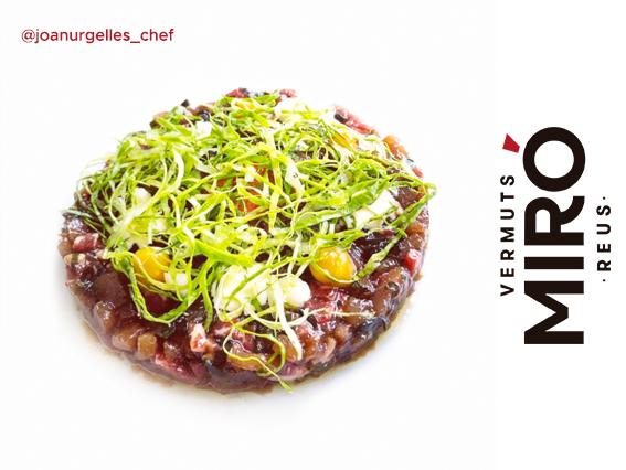 Steak tàrtar a l'aroma de Vermut Miró