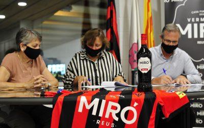 Vermuts Miró i Reus Deportiu consolidan su compromiso