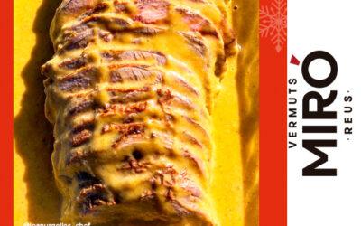 Redondo de ternera con miel y Vermut Miró Reserva