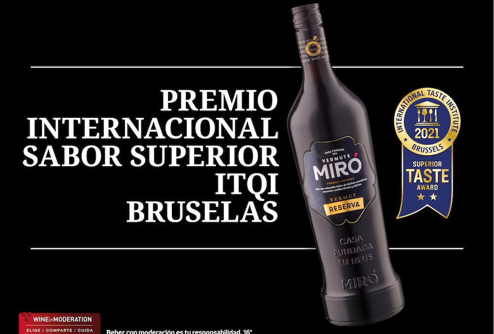 Vermuts Miró obtiene el Premio Internacional al Sabor Superior