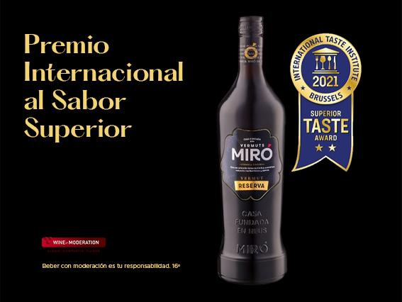 Vermuts Miró obté el Premi Internacional al Sabor Superior