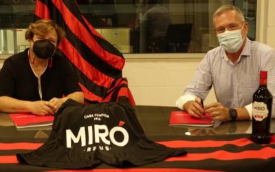 Vermuts Miró i el Reus Deportiu renoven l'acord de col·laboració