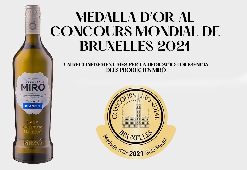El Vermut Miró Blanc és un dels millors vermouths del món al Mundial de Brusel·les