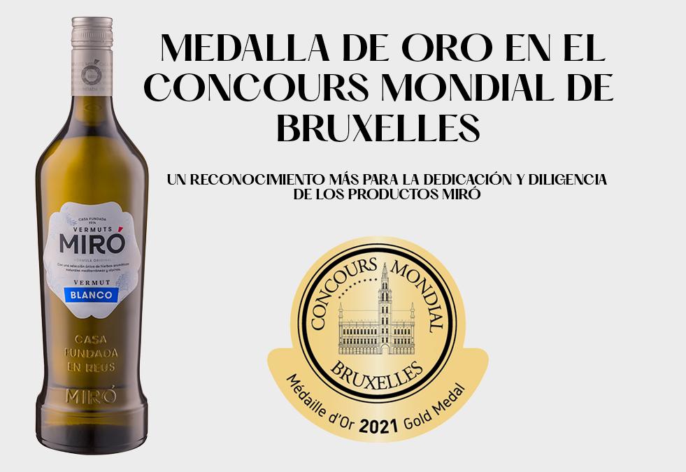 El Vermut Miró Blanco es uno de los mejores vermouths del mundo en el Mundial de Bruselas
