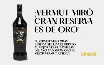 El Vermut Miró Gran Reserva se lleva el premio al mejor vermut catalán del año y una medalla Grande Oro en el mejor vermut negro reserva