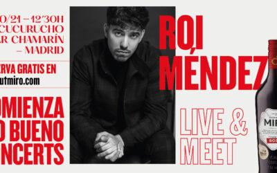 Roi Méndez cierra en Madrid el ciclo de conciertos 'Comienza lo bueno' de Vermuts Miró